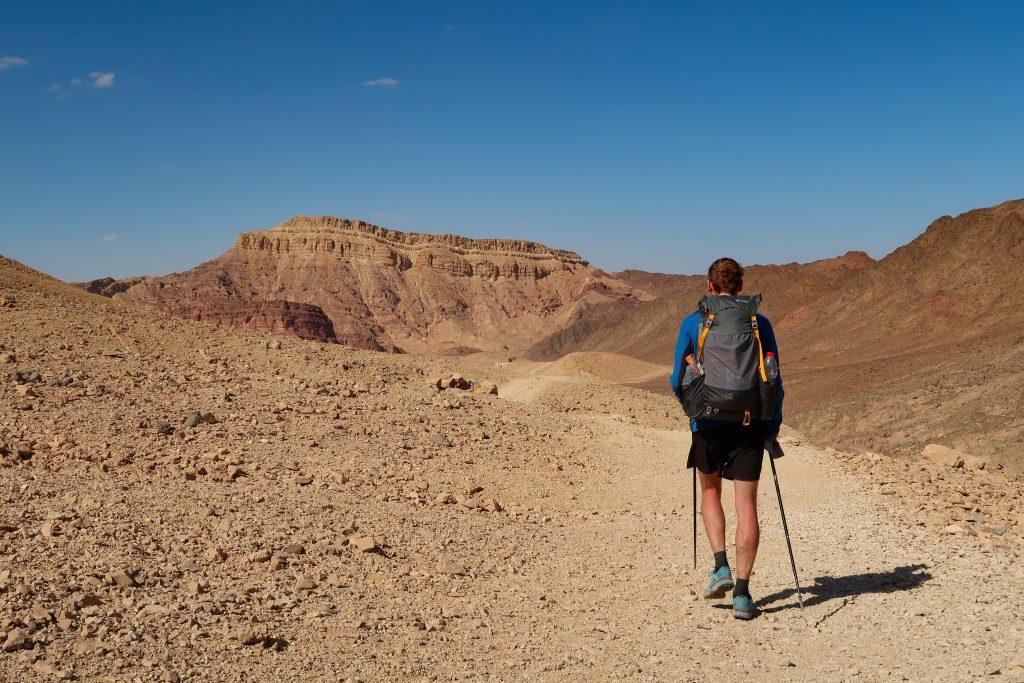 Izraelská národní stezka v poušti Negev