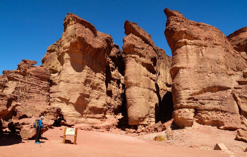 Šalamounovy sloupy v národním parku Timna na Izraelské národní stezce
