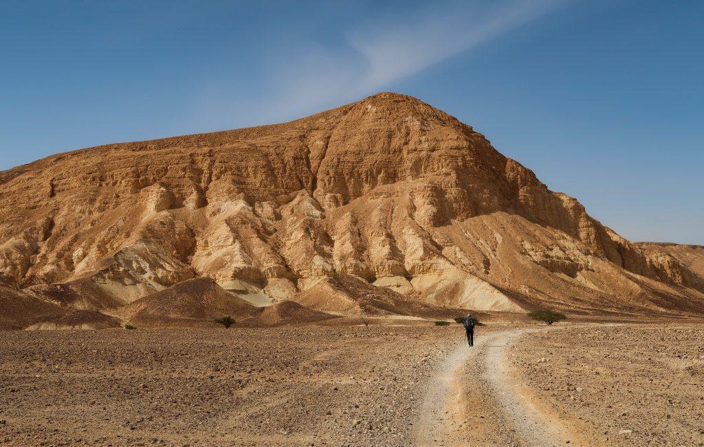 Israel National Trail poblíž kaňonu Vardit