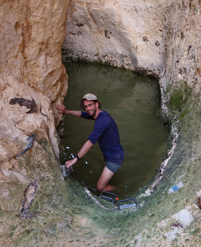 Zatopené tůně v kaňonu Vardit