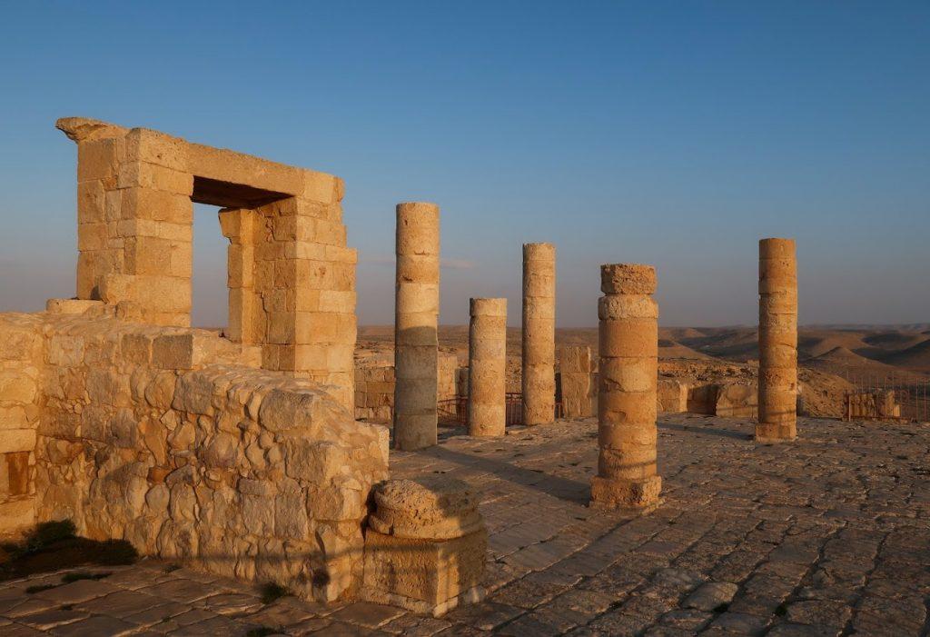Sloupoví v UNESCO památce Avdat
