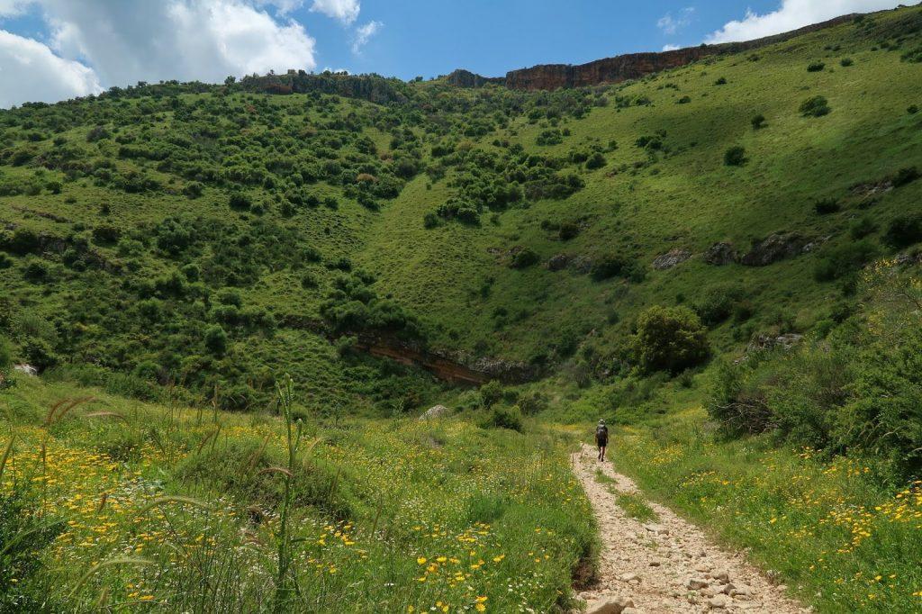 Údolí Dishon na Izraelské národní stezce