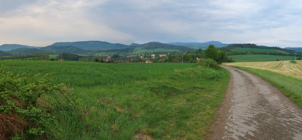 Pohled na Husinec Prácheňsko
