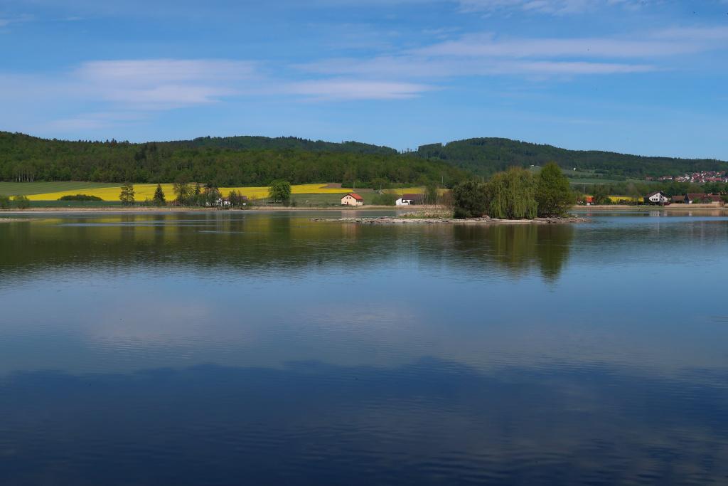 Tálínský rybník od západu