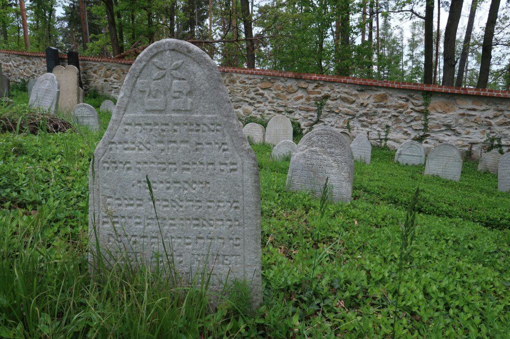 Náfrobek židovského hřbitova Vodňany
