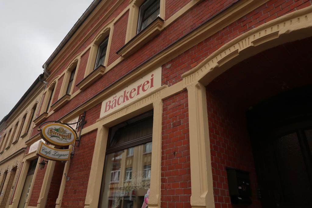 Modrá hřebenovka Schöneck pekařství