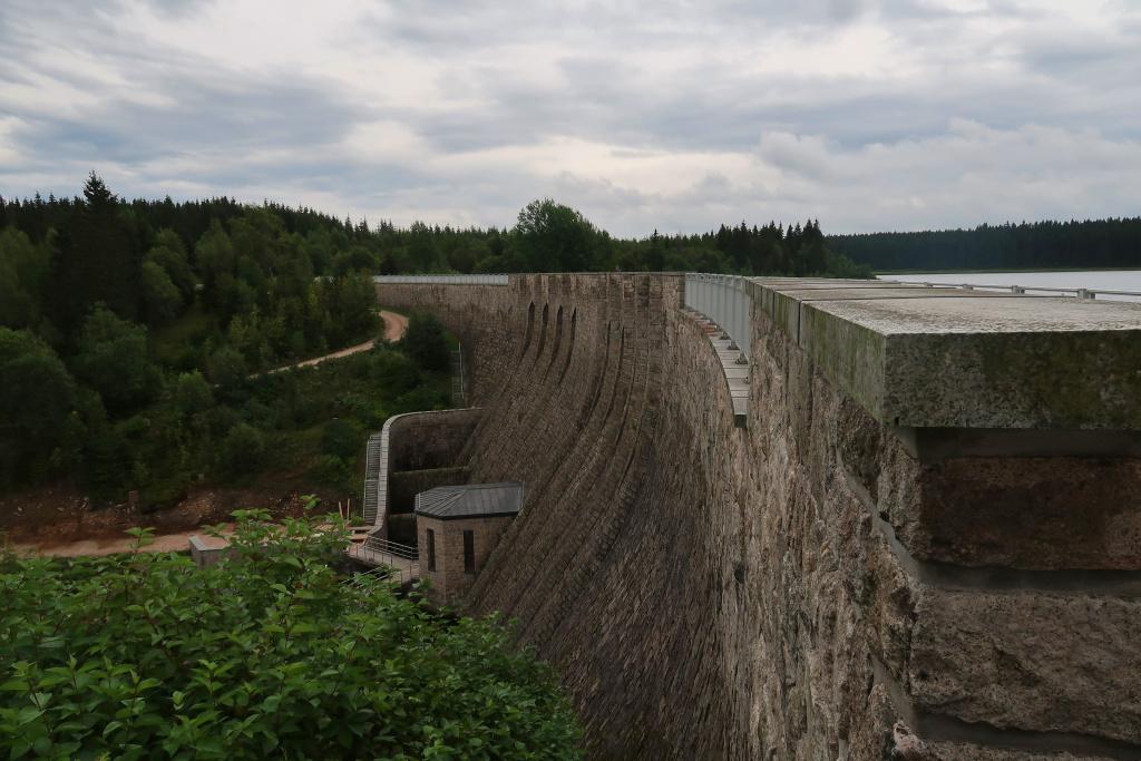 Modrá hřebenovka přehrada Carlsfeld-Weitersweise
