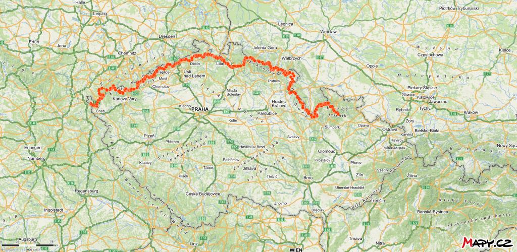 Mapa celého výletu