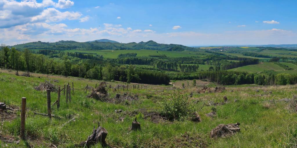 Hostýnské vrchy panorama